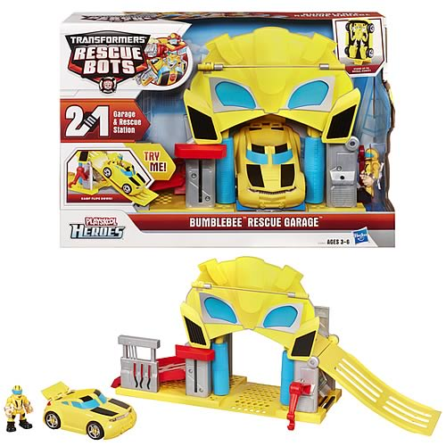 Transformers Rescue Bots Bumblebee's Rescue Garage Playset