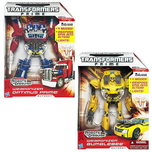 Transformers Prime Weaponizers Wave 1 Set