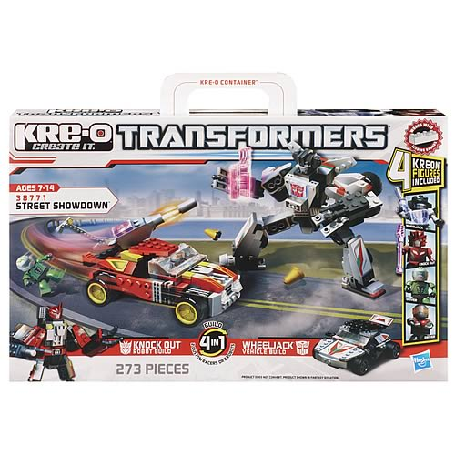Kre-O Transformers Street Showdown Knock Out and Wheeljack