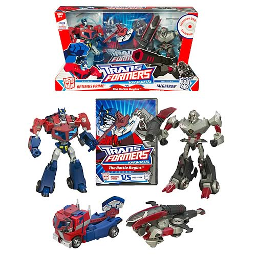Transformers Animated DVD The Battle Begins Figures
