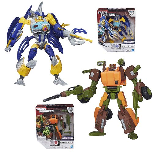 Transformers Generations Voyager Sky-Byte and Roadbuster Set