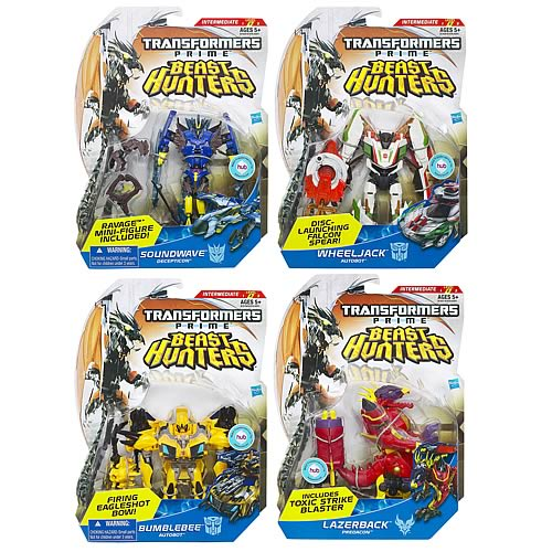 Transformers Prime Beast Hunter Deluxe Figures Wave 1 Set