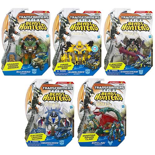Transformers Prime Beast Hunter Deluxe Figures Wave 2 Rev. 1