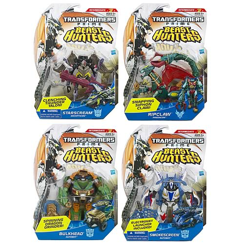 Transformers Prime Beast Hunter Deluxe Figures Wave 2 Set