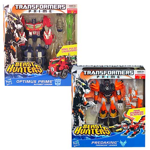 Transformers Prime Beast Hunter Voyager Figures Wave 1 Set