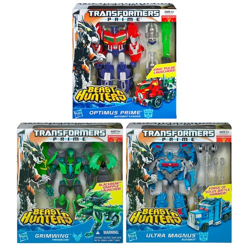 Transformers Prime Beast Hunter Voyager Figures Wave 3 Case