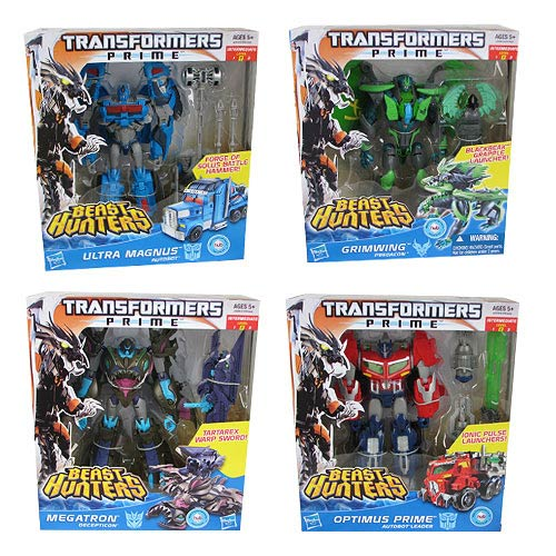 Transformers Prime Beast Hunter Voyager Figures Wave 4 Case