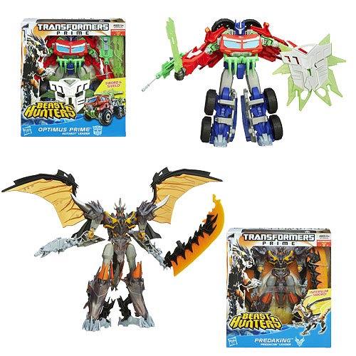 Transformers Prime Beast Hunter Voyager Figures Wave 5 Set