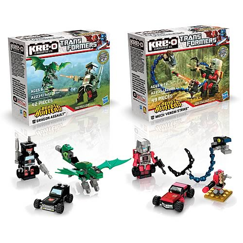 Kre-o Transformers Beast Hunters Figure Packs Wave 1 Set