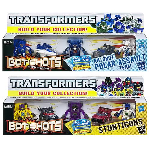 Transformers Bot Shots Basic 5-Packs Wave 1 Set