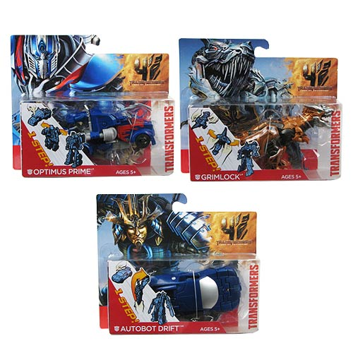 Transformers Age of Extinction One-Step Changers Wave 1