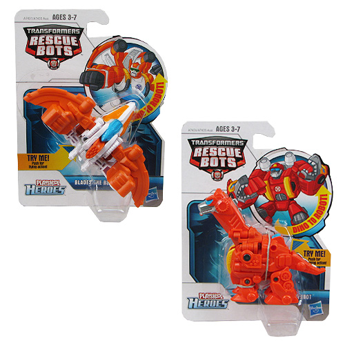 Transformers Rescue Bots Mini Dino Figures Wave 1 Set