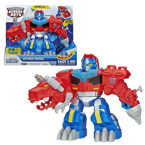 Transformers Rescue Bots Optimus Primal T-Rex Figure