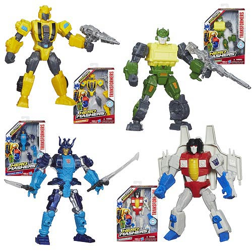 Transformers Hero Mashers Action Figures Wave 1 Set