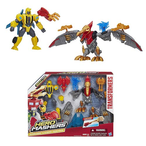 Transformers Hero Mashers Bumblebee and Strafe Team Pack