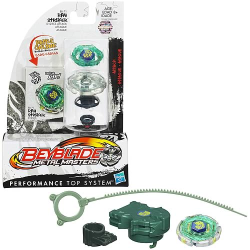 Beyblade Metal Fusion Ray Striker Green Battle Top