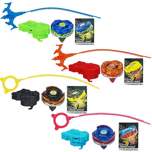 Beyblade XTS Electro Spark Battlers Tops Wave 1 Set