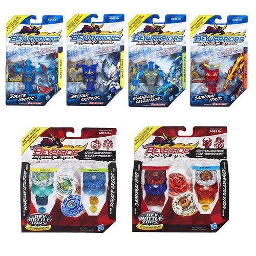 Beyblade Beywarriors Shogun Steel Battle Tops Wave 1 Set