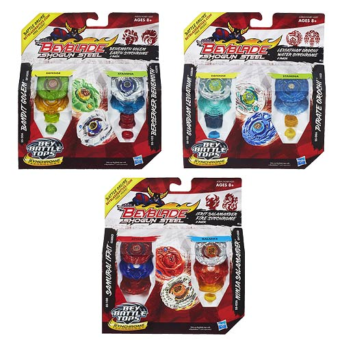 Beyblade Shogun Steel Tops Two-Packs Wave 2 Set