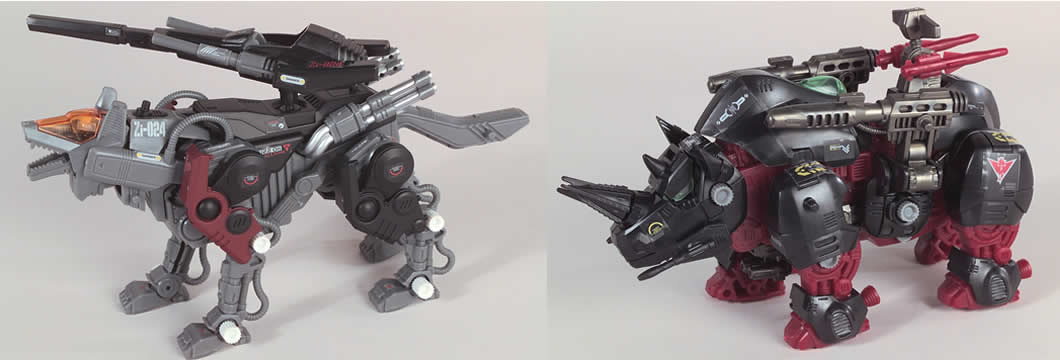 Zoids Deluxe Wolf & Rhinos Set