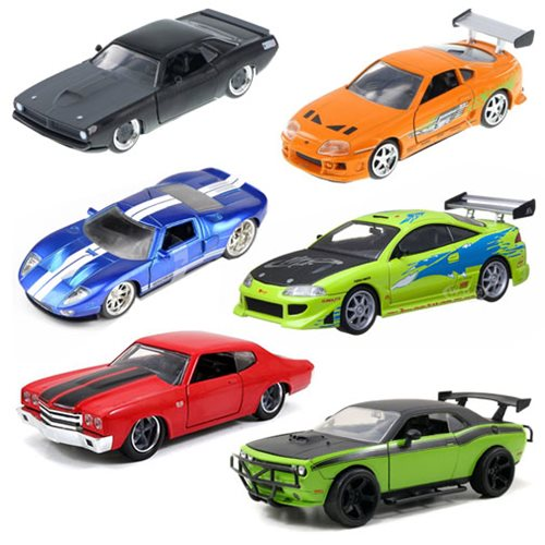 Fast And Furious 1 32 Scale Die Cast Vehicle Wave 5 Case Jada Toys Fast And The Furious