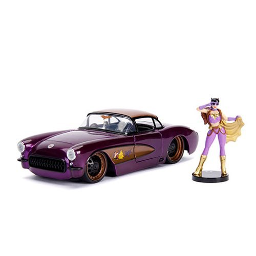 DC_Bombshells_Batgirl_1957_Chevy_Corvette_124_Scale_DieCast_Metal_Vehicle