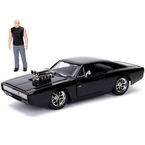 Fast_and_the_Furious_Doms_Dodge_Charger_124_Scale_Build_and_Collect_DieCast_Metal_Vehicle_with_Dom_Figure