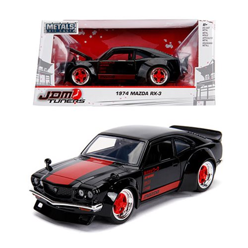 JDM_Tuners_1974_Mazda_RX3_Glossy_Black_124_Scale_DieCast_Metal_Vehicle
