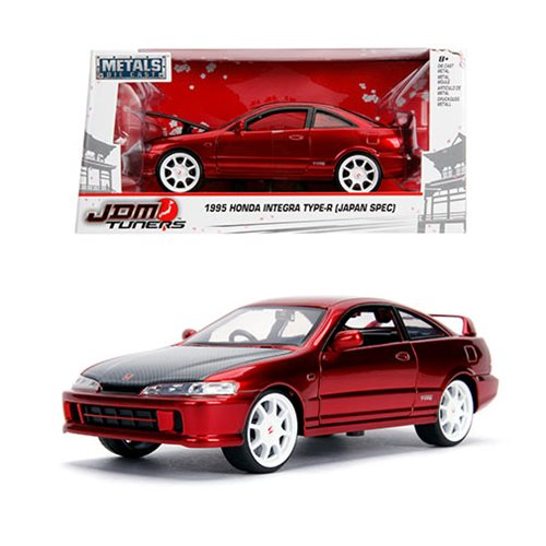 JDM_Tuners_1995_Honda_Integra_TypeR_Candy_Red_124_Scale_DieCast_Metal_Vehicle