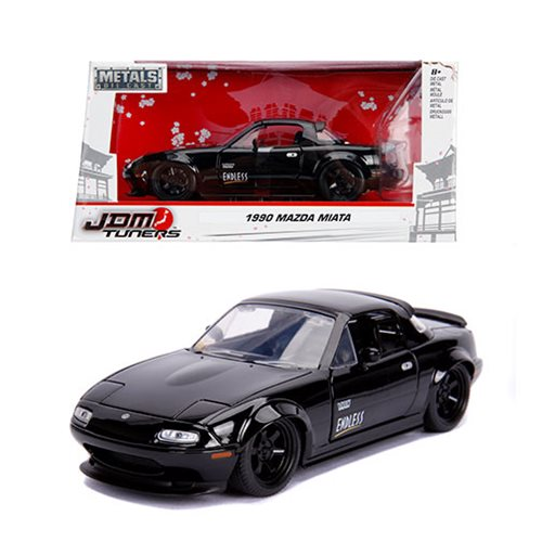 JDM_Tuners_1990_Mazda_Miata_Glossy_Black_124_Scale_DieCast_Metal_Vehicle