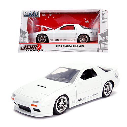 JDM_Tuners_1985_Mazda_RX7_FC_Glossy_White_124_Scale_DieCast_Metal_Vehicle