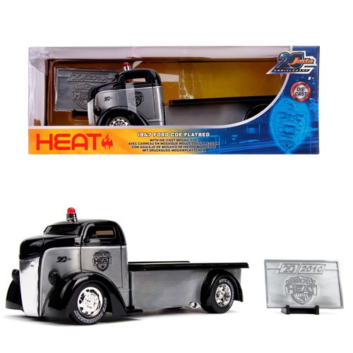 Jada 20th Anniversary Wave 5 Badge City Heat 1947 Ford COE Flatbed 1:24 Scale Die-Cast Metal Vehicle