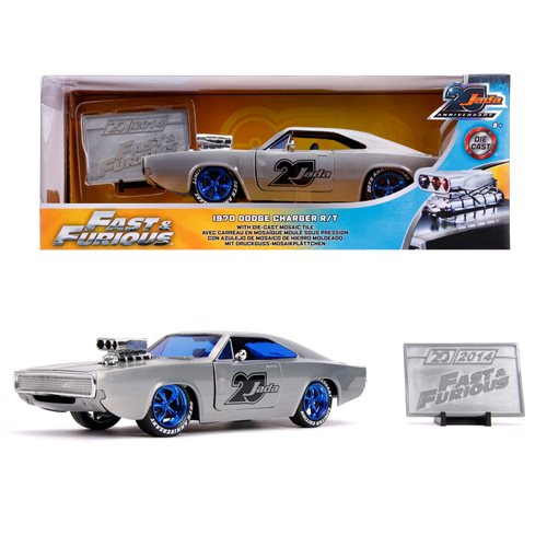 Jada 20th Anniversary Wave 5 Fast and Furious 1970 Dodge Charger 1:24 Scale Die-Cast Metal Vehicle