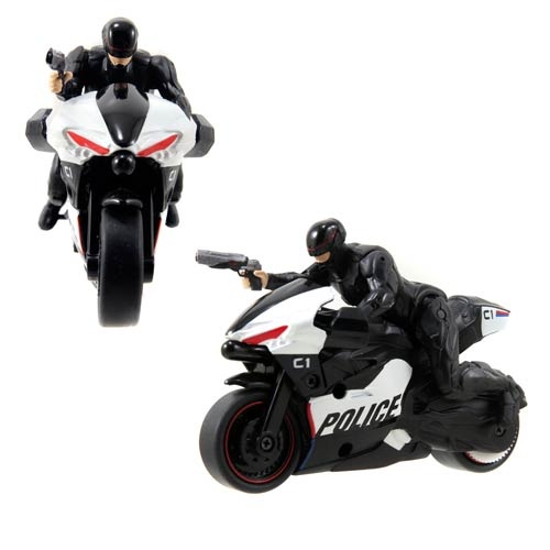 RoboCop Action Figure with Pull-Back Motorcycle Vehicle