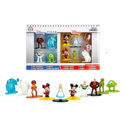 Disney Nano Metalfigs Die-Cast Metal Mini-Figures 10-Pack