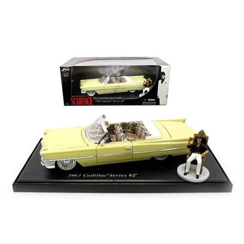 Scarface Cadillac w/ Tony Montana Figure Die-Cast Vehicle