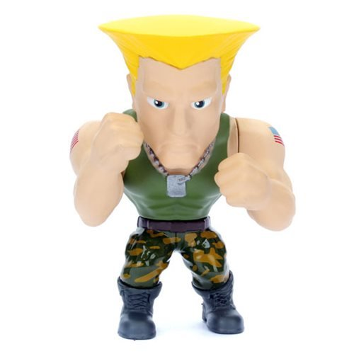 Street Fighter Guile 4-Inch Metals Die-Cast Action Figure
