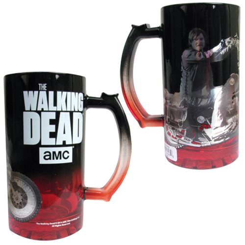 The Walking Dead Daryl Dixon on Motorcycle Glass Beer Mug