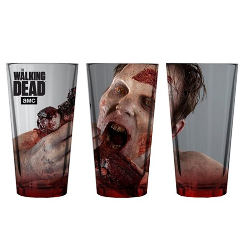 The Walking Dead Zombie Walker Feasting Pint Glass