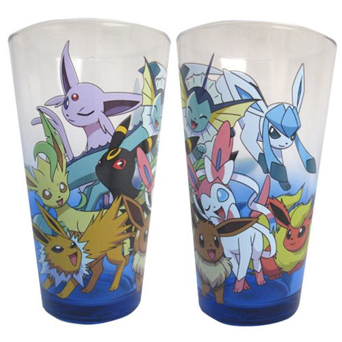 Pokemon Eevee Evolution 16 oz  Pint Glass