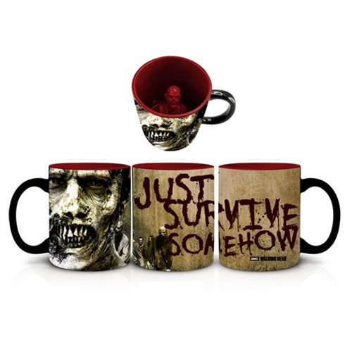 The Walking Dead Survive Somehow Molded Zombie Mug