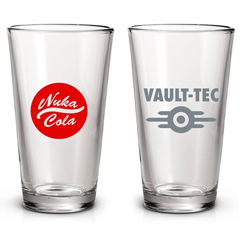 Fallout Vault-Tec and Nuka-Cola Pint Glass 2-Pack