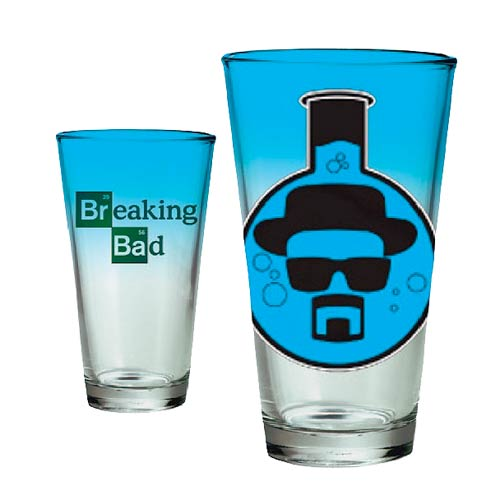 Breaking Bad Heisenberg Sketch Beaker Pint Glass