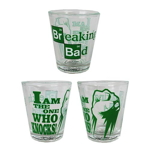Breaking Bad I Am The One Knocks Shot Glass