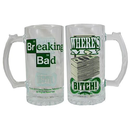 Breaking Bad Where's My Money 16 oz. Beer Mug