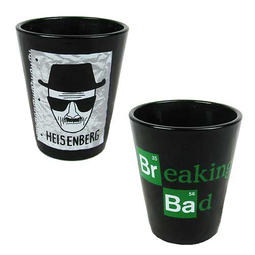 Breaking Bad Heisenberg Sketch Shot Glass