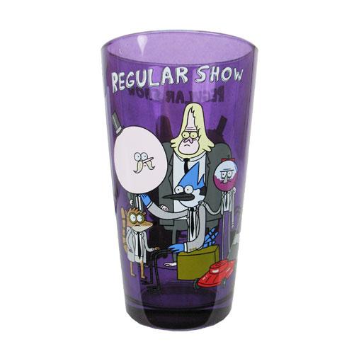 Regular Show Group Purple Pint Glass Just Funky Regular Show Pint Glasses At Entertainment