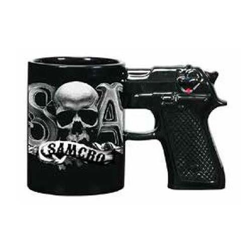 sons of anarchy samcro gun handle molded mug just funky. Black Bedroom Furniture Sets. Home Design Ideas