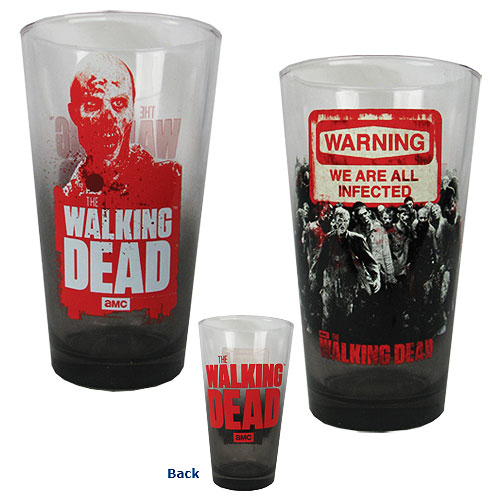 The Walking Dead Warning Pint Glass 2-Pack