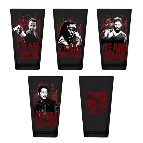 The Walking Dead Black Pint Glass 4-Pack